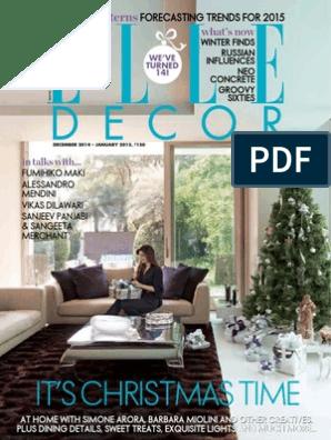 Elle Decoration India - December January 2015 | 3 D Printing