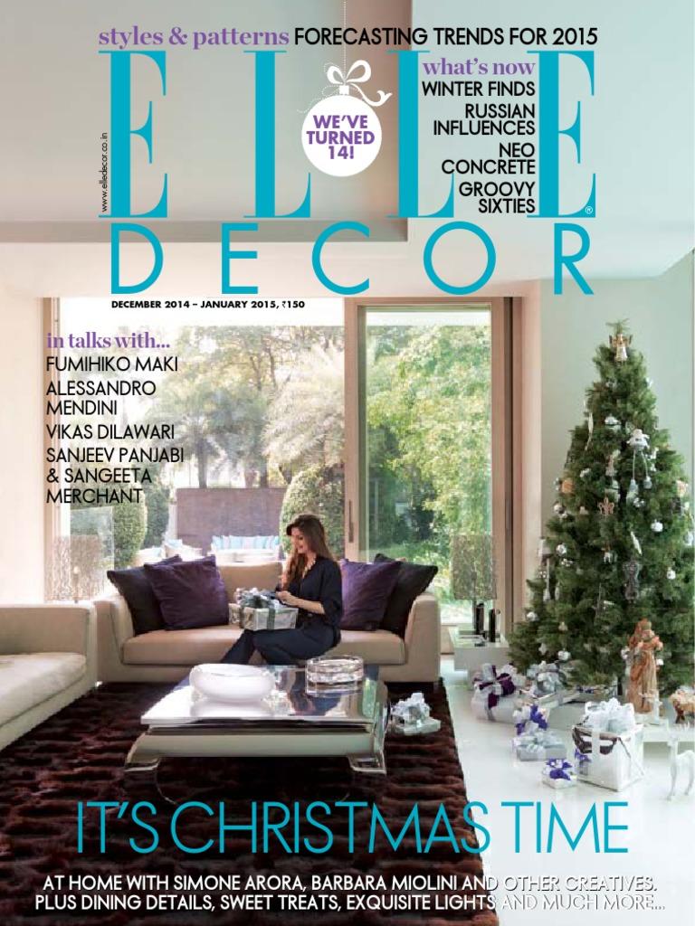 ac10b6d9b68e Elle Decoration India - December January 2015 | 3 D Printing (277 views)
