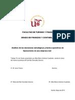 Análisis de las decisiones estratégicas y táctico-operativas de operaciones de operaciones en una empresa real