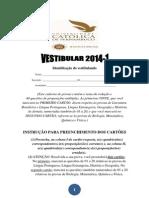 Vestibular UNICAP 2014.1