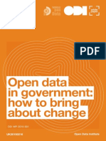 Open data in government