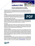 USDA-RUS Broadband Initiatives Program Fact Sheet 01-22-2010