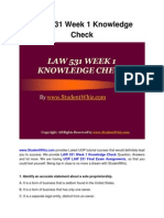 LAW 531 Week 1 Knowledge Check Question Answers