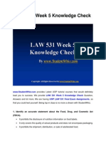 LAW 531 Week 5 Knowledge Check Question Answers