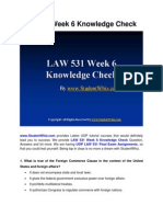LAW 531 Week 6 Knowledge Check Question Answers