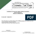 2012 Germana (Materna) Nationala Clasa a IX-A Subiecte