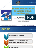 Malaysia National Medicines Policy Presentation (2013)