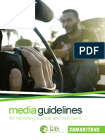 Irish Association for Suicidology Media Guidelines Suicide and Self Harm
