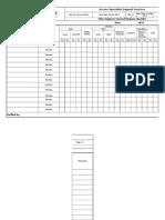 Employee Internal Hygiene Checklist