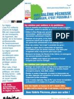 Tract Paris - Changer l'Ile-de-France avec Valérie Pécresse et Chantal Jouanno !