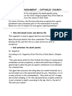 capital punishment chrsitian work sheet