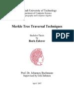 Boris Ederov.bachelor.merkle Tree Traversal Techniques
