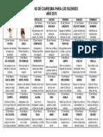 Calendario de Cuaresma para los silenses 2015