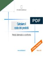 Calcolare Il Costo Dei Prodotti_Parte_1