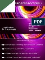 Seminario Tesis Doctoral I - Actividad I