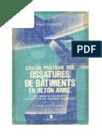 Calcul Pratique Des Ossature en Bc3a9ton Armc3a9 Albert Fuentes Eyrolles