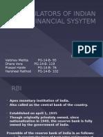 Regulators of Indian Financial Sysytem