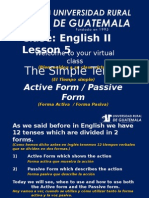 Ingles 2 Clase 5 Simple Tenses Active and Passive Form