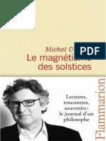 ONFRAY Michel -  Le magnétisme des solstices, journal hédoniste (Tome 5).epub