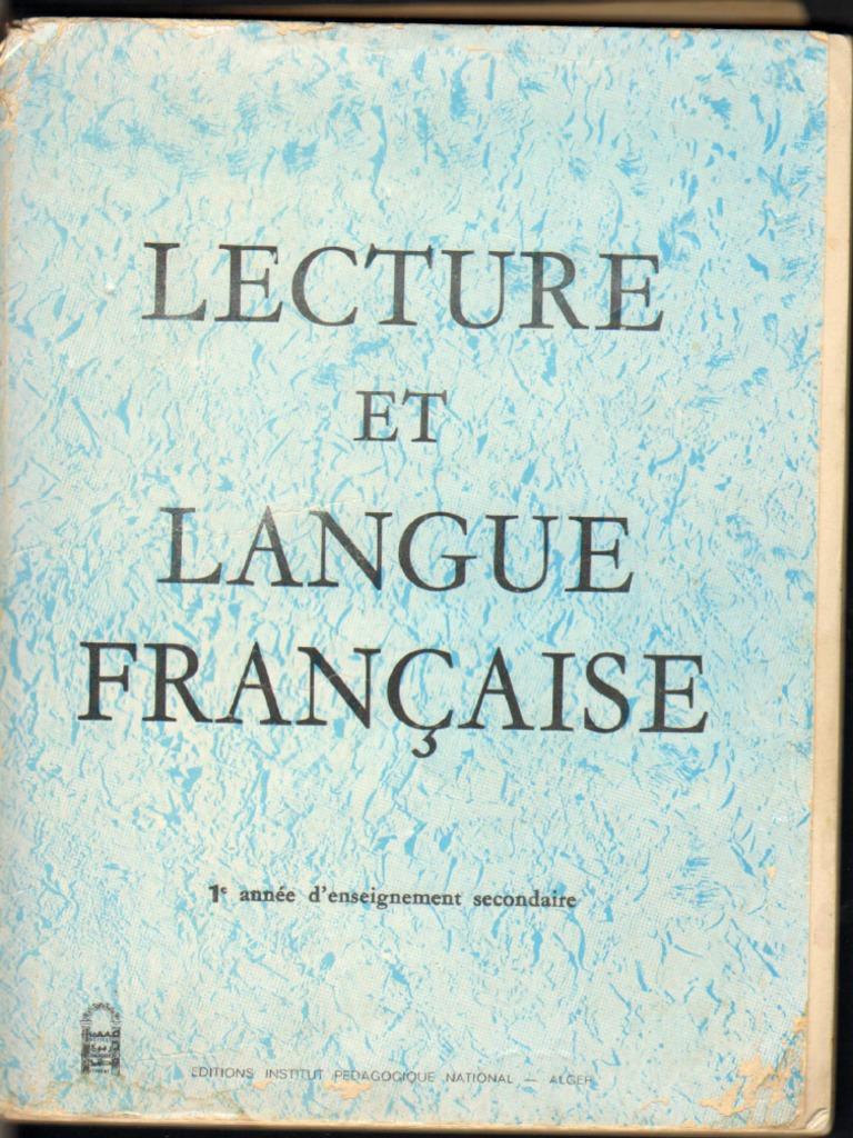 Lecture Et Langue Francaise 1as Hd Algerie