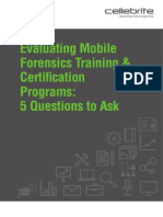 Evaluating Mobile Forensics Training White Paper Final