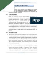 InformeESTUDIO TOPOGRÁFICO Topografico CENTENARIO