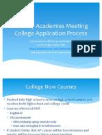 2015 jan academies student meeting- college app process
