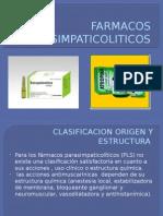 FARMACOS PARASIMPATICOLITICOS