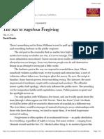 The Act of Rigorous Forgiving - NYTimes.com