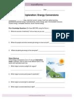 energy conversions se gizmo