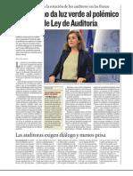 El Gobierno da luz verde al polémico proyecto de Ley de Auditoría
