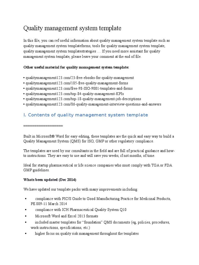 quality management system template docx scatter plot histogram
