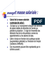 Budget Masse Salariale