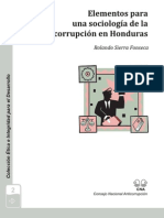 Elementos Para Una Sociologia de La Corrupcion en Honduras
