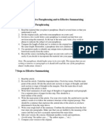 Handout 39 - Steps to Effective Paraphrasing and to Effective Summarizing-handout