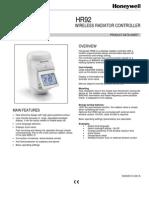 HR92 Specification Sheet