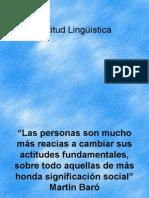 actitudes linguistincas
