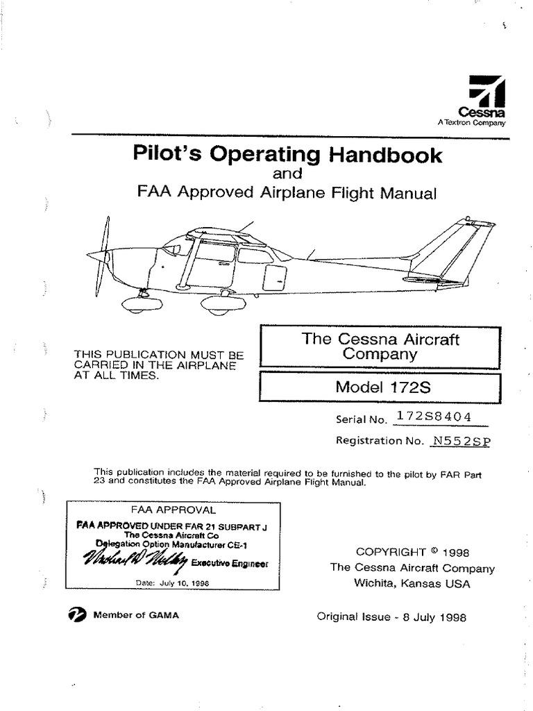 Cessna 172S POH pdf | Airspeed | Flap (Aeronautics)