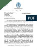 Legislative Auditor Letter Regarding CPERS
