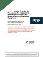 API Rp 8b Inspections Maintenance