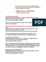 Counseling Services Workshops