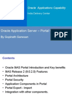 Oracle Application Server Oracle9iAS Portal