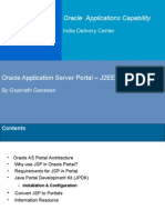 Oracle Application Server Oracle 9iAS Portal J2EE Integration
