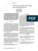 Algorithms for Fast Large Scale Data Mining  Using Logistic Regression