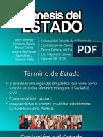Génesis Del Estado. Presentación.