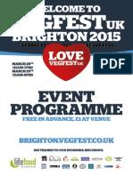 VegFest UK Brighton 2015 Programme