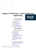AMIE Syllabus_ Electrical Engineering