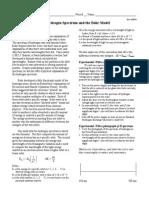 Hydrogen Spectrum Lab Student Sheet
