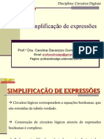 CC Aula5 Simplificacao de Expressoes Alunos