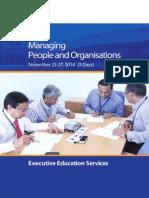 KSBL Executive Education on Managing People and Organisatins